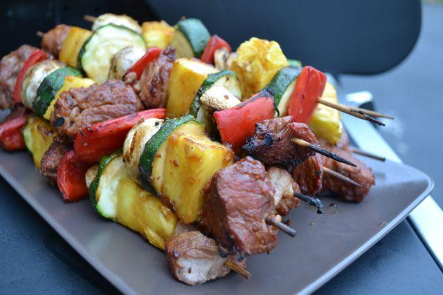 Tropical Pork Pineapple Kebabs | Dinners | Pinterest