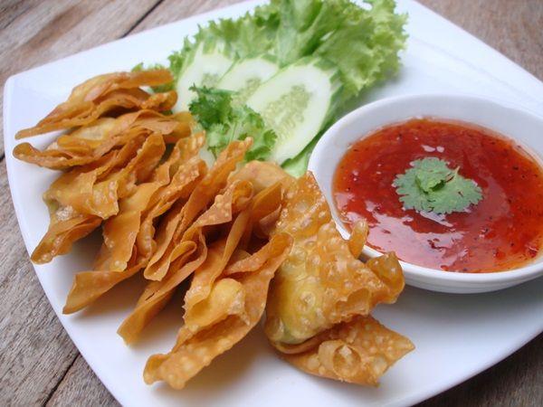 crispy wontons | finger foods | Pinterest