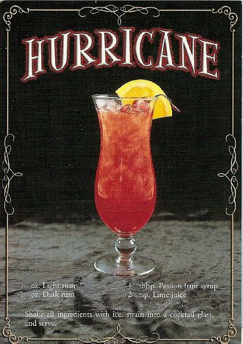 Hurricane mixed drink. Delicious! | Drinks | Pinterest