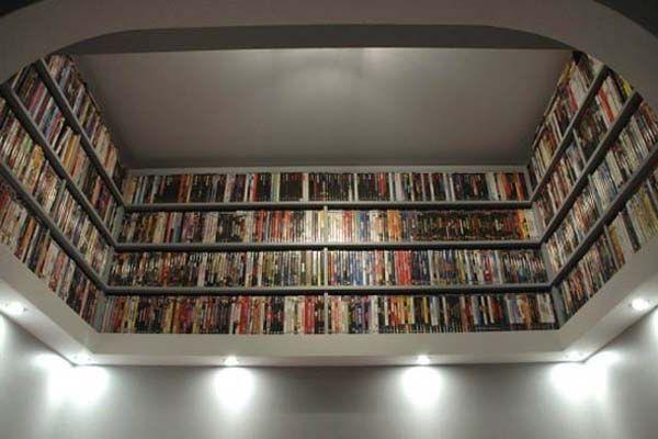 Creative dvd storage ideas huge storage misc sort pinterest - Unique dvd storage ideas ...
