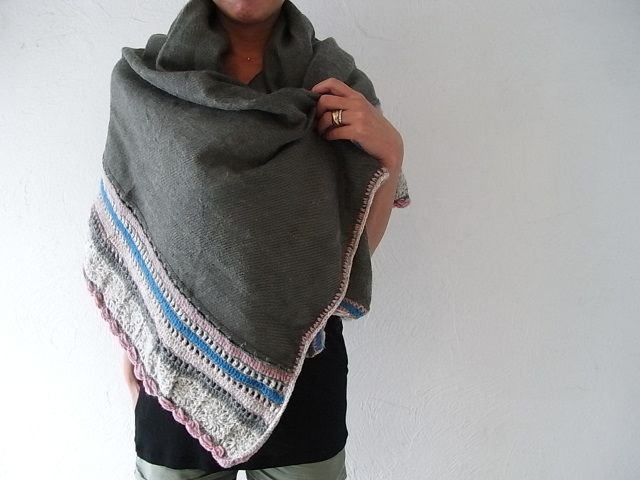 marble SUD YAK KNIT SHAWL http://www.small-kyoto.com/archives/5188