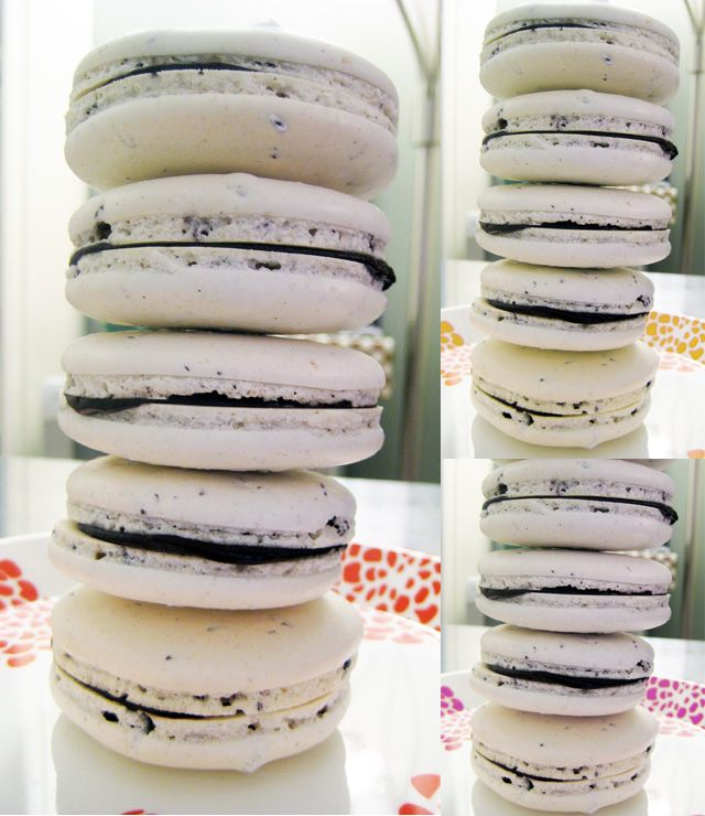 stack of cacao nib macarons | Food for Thought | Pinterest