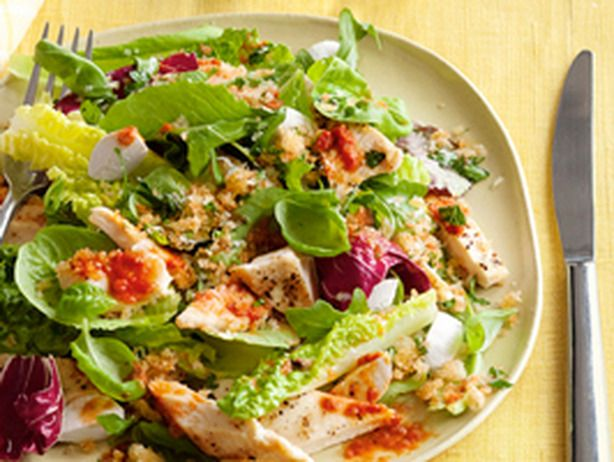 Grilled Chicken Salad With Parmesan Breadcrumbs | Recipe