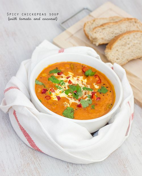 Spicy Chickpeas, Coconut and Tomato Soup | Julian the Thinker