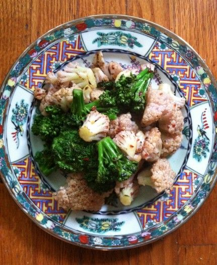 Stir-Fried Spicy Broccoli & Cauliflower - Green Eats Blog
