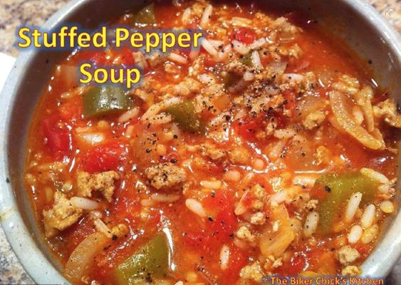 The Biker Chick's Kitchen Stuffed Pepper Soup | foodie ...