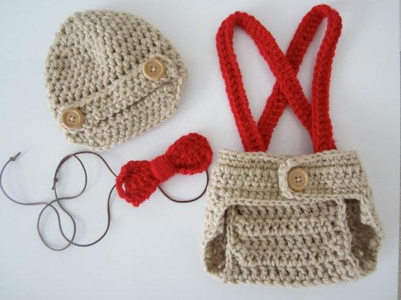 Crochet Newborn Outfits : Crochet Newborn Baby Boy Photo Outfit Knit and Crochet Pinterest