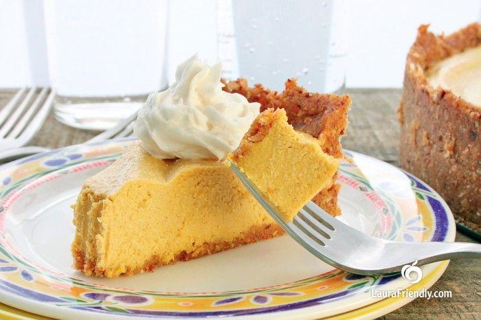 Vegan Pumpkin No Bake Cashew Cheesecake