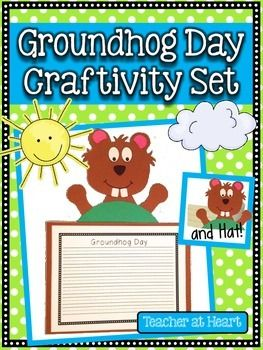 Groundhog Craftivity Set...cute Groundhog Day art project!