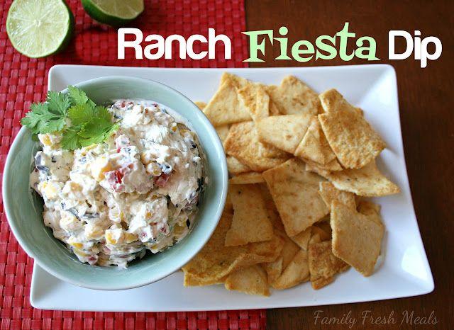 Ranch fiesta dip best dip ever party food pinterest