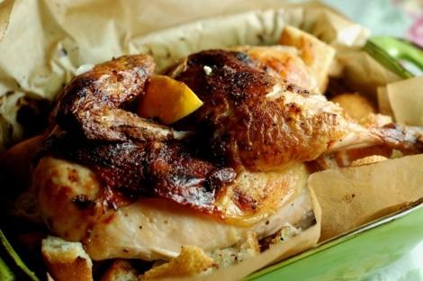 ... Croutons http://www.foodnetwork.com/recipes/ina-garten/lemon-chicken