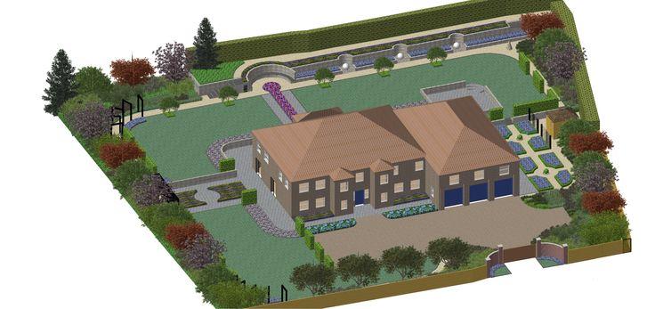 Pin by linsey evans on garden design plans pinterest for Garden design 2 acres