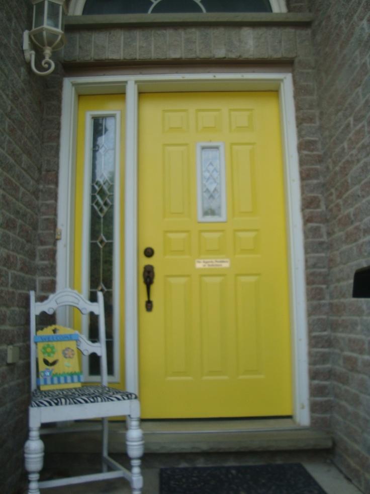 Beautiful Yellow Front Door