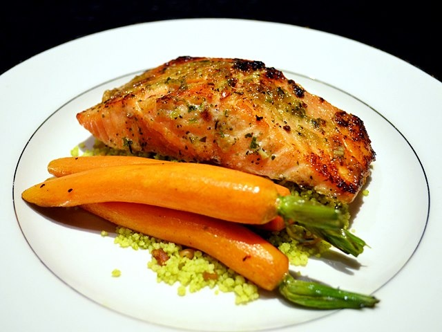 Smoked Maple Glazed Fish (choice of fish)...served with roasted ...