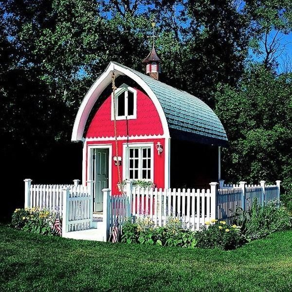 Red barn tiny house images joy studio design gallery for Red barn houses