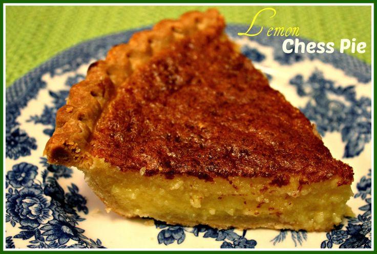 Sweet Tea and Cornbread: Lemon Chess Pie!
