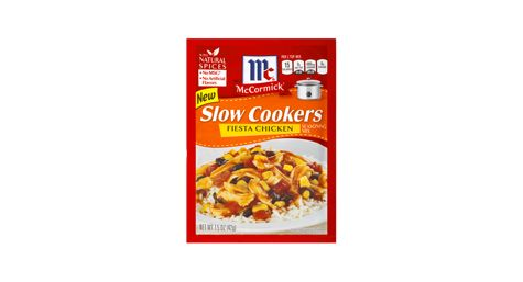 Slow Cookers Fiesta Chicken from McCormick