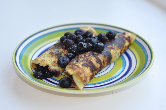 Blueberry Crepes | Healthy recipes | Pinterest