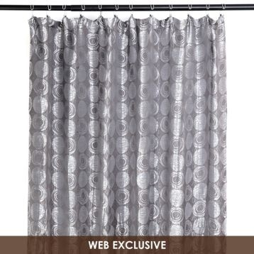 Silverado Silver Shower Curtain For The Home Pinterest