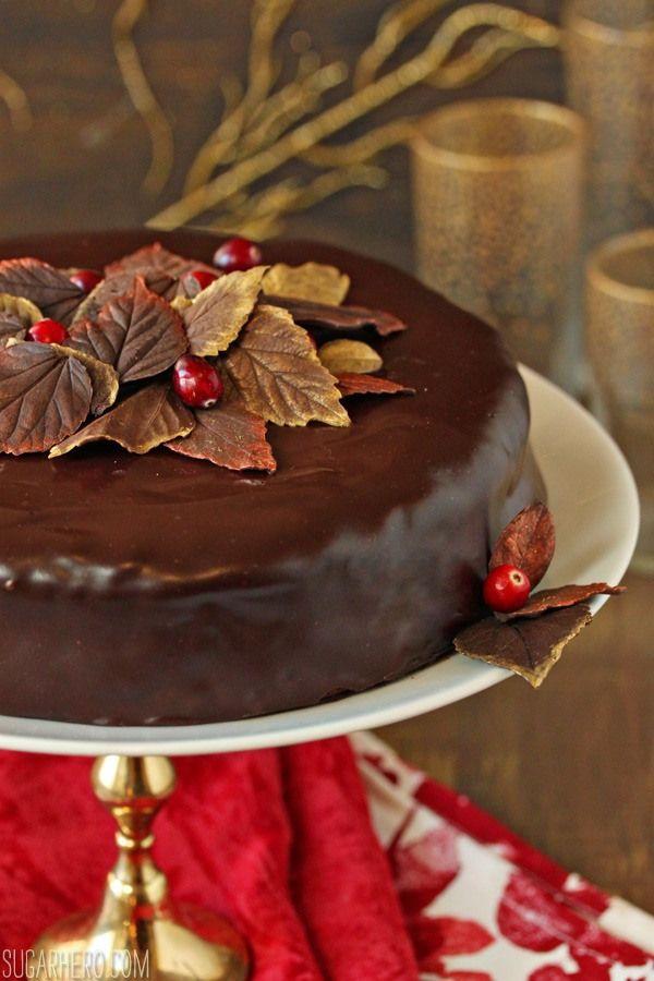 Cranberry Chocolate Truffle Cake - SugarHero!