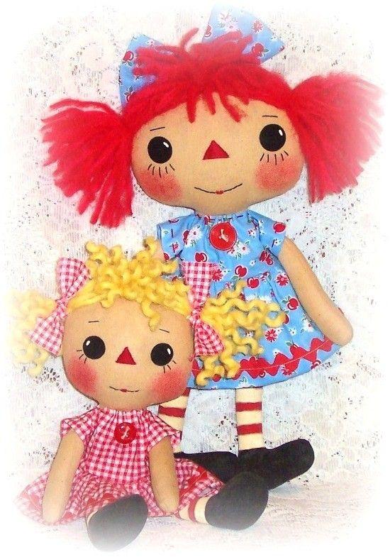 Кукла шаблон, шаблон PDF, Rag Doll Pattern, ткани куклы строчки ePattern.