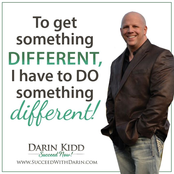 TO get something #different, I have to DO something DIFFERENT! # ...