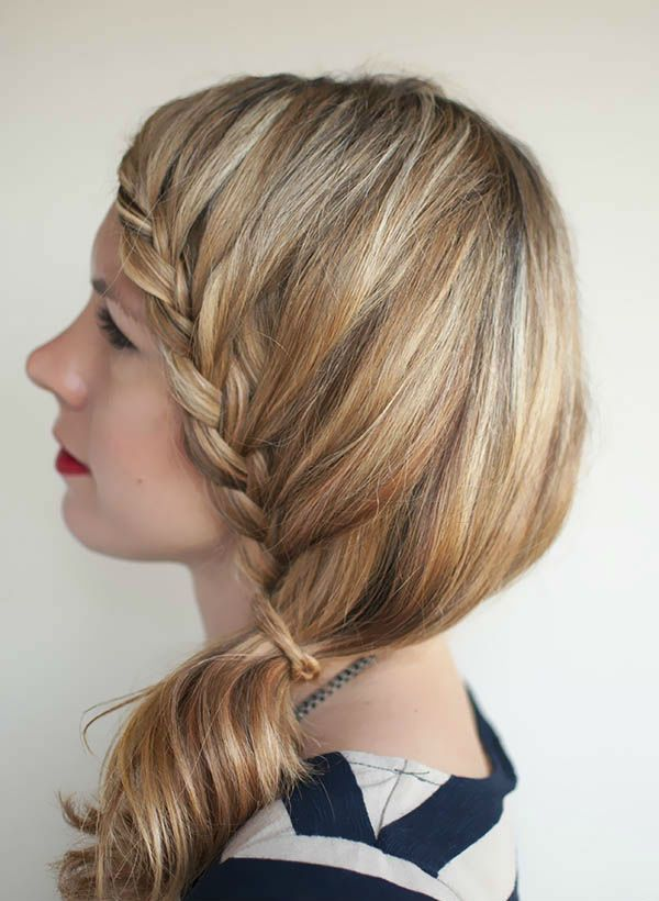 French braided ponytail hairstyle Laurens Look Book Updos/Braids ...