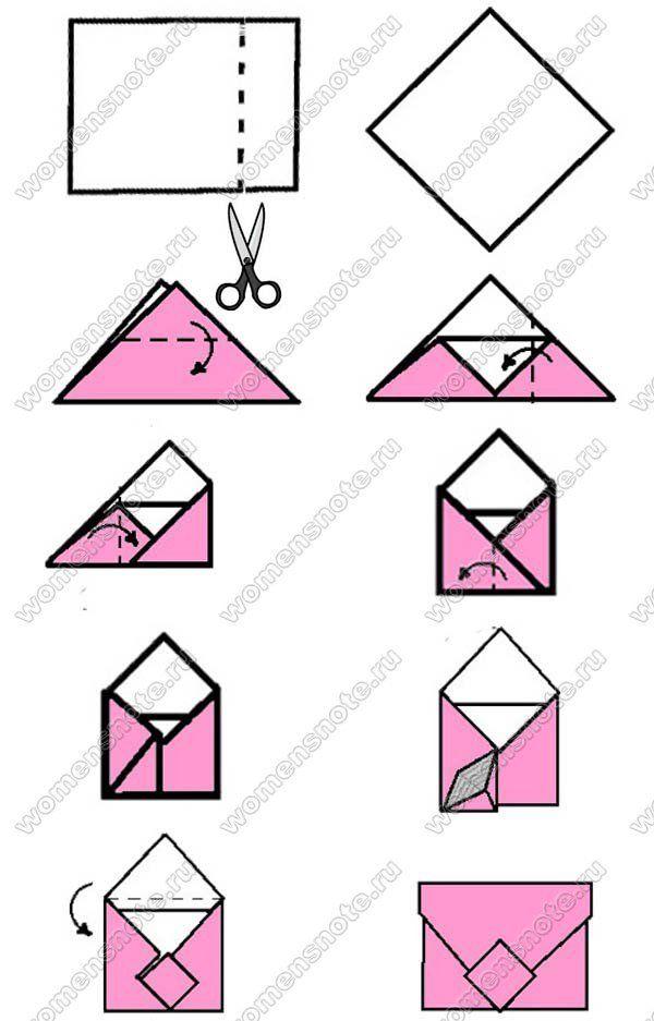 Как сделать конверт из бумаги: простой и оригинальный