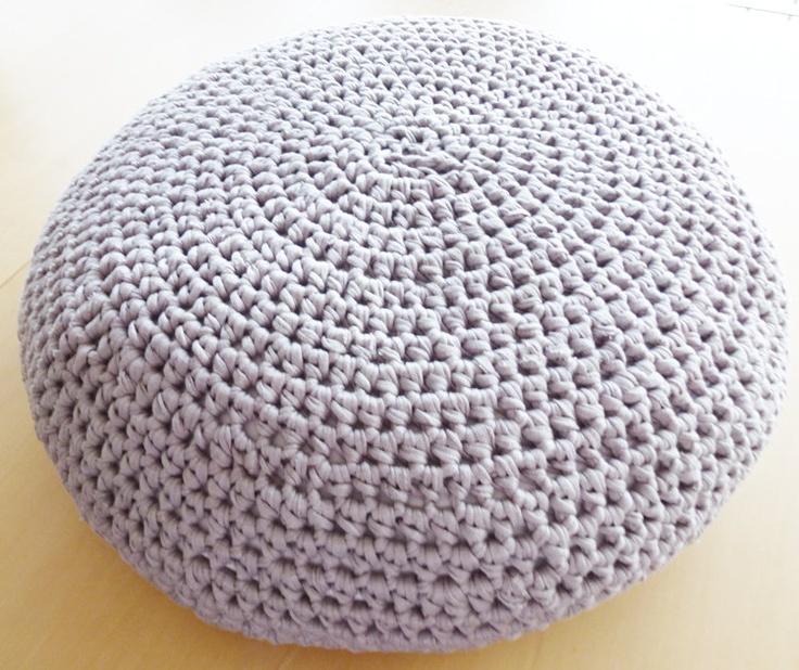 Crochet Pouf Ottoman Floor Cushion PDF pattern - English and Dutch ...