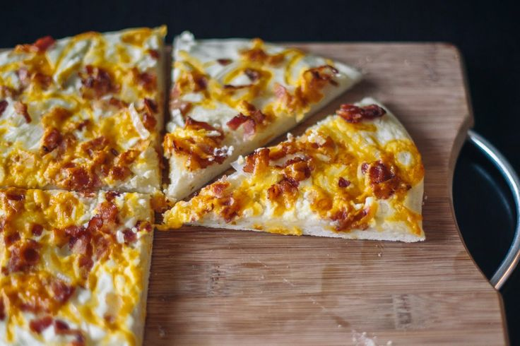 Onion & Bacon Pizza (with a creamy sauce) #food #pizza #delcious, easy ...
