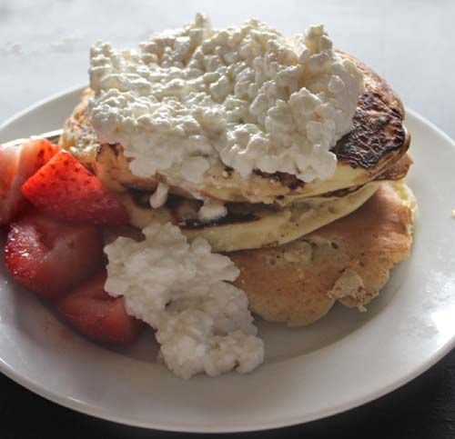 More like this: cottage cheese , pancakes and cottages .