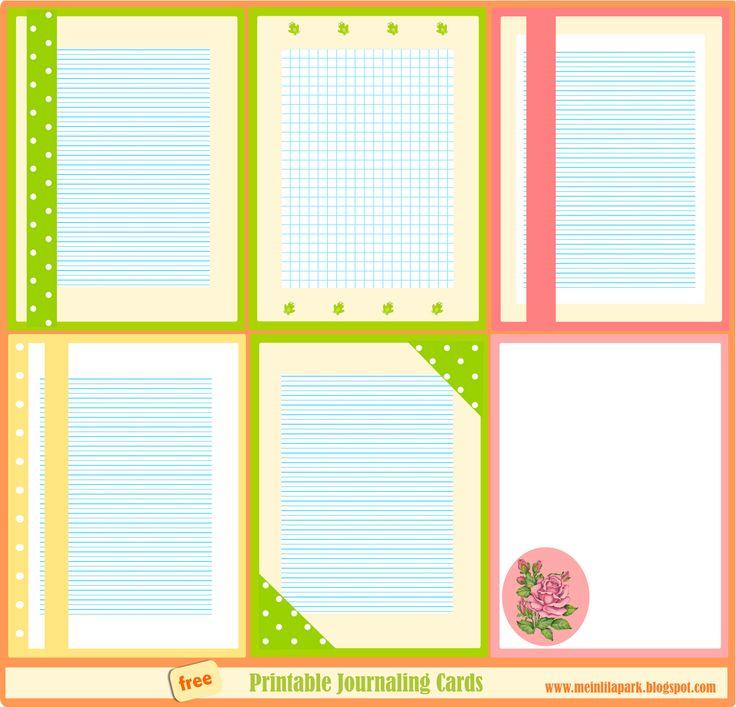 free printable journaling cards: