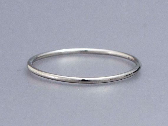 thin platinum wedding band 1mm stacking ring