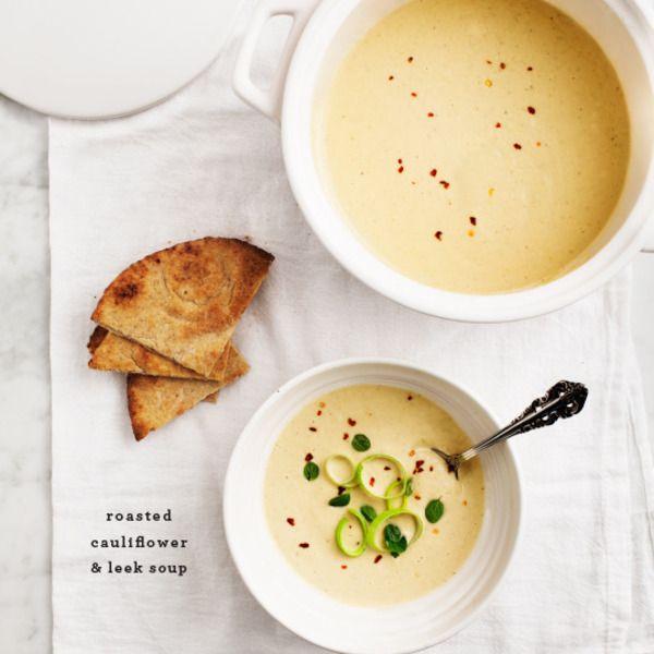 Roasted Cauliflower & Leek Soup | Recipes to try | Pinterest