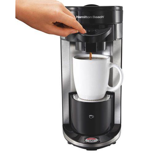 Coffee Maker That Uses Hand Print Recognition : Hamilton Beach FlexBrew Single-Serve Coffeemaker, Model 49995