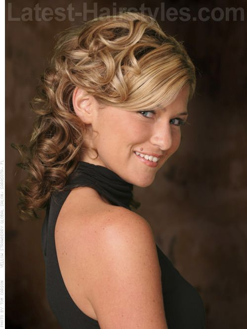 Elegant Mother of the Bride Groom Hairstyles - Sassy with Side Bangs ...