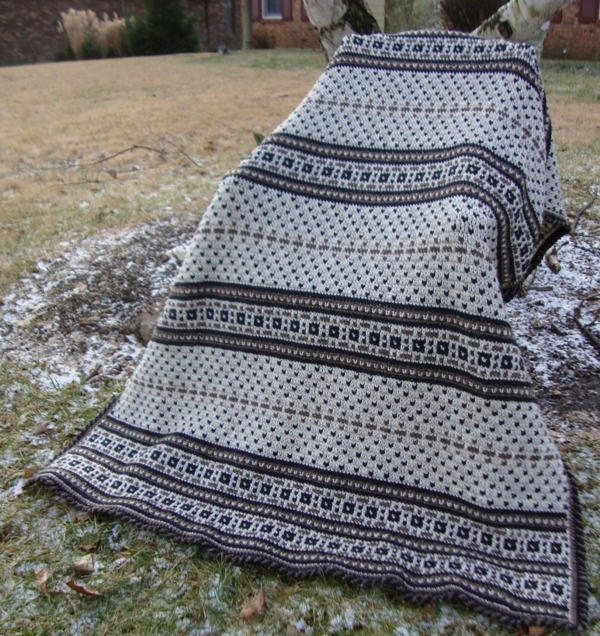Crochet Afghan with braided border