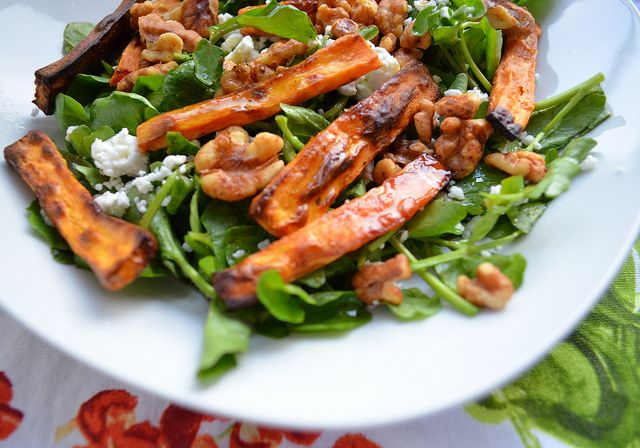 feta roasted pear feta watercress and hazelnut salad roasted pear feta ...