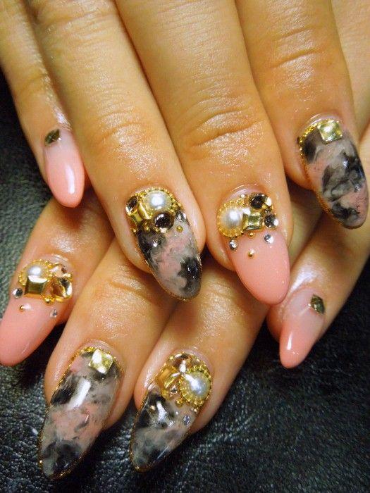 Japanese nail design | Hot Nails | Pinterest