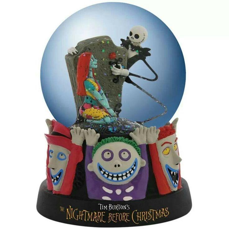 Nightmare before christmas snow globe | the nightmare before christma ...