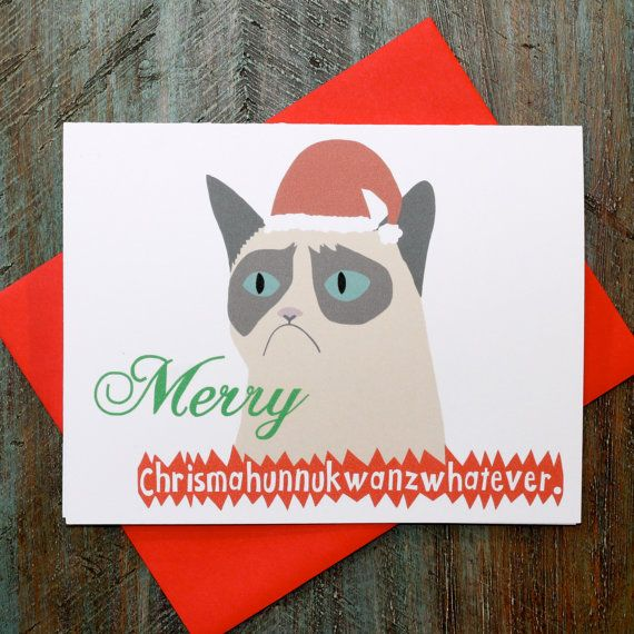 Grumpy Cat Funny Christmas Card Meme Printables