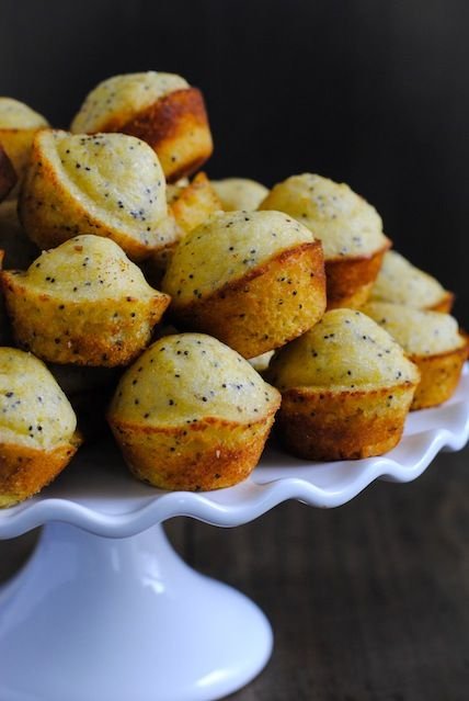 Lemon-Poppyseed Cornbread Mini Muffins - A versatile mini muffin that ...