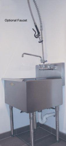 Heavy Gauge Stainless Steel Utility Laundry Room Sink by Advance Tabco ...