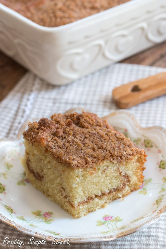 Cinnamon Streusel Coffee Cake..I love coffee cake...this one looks ...