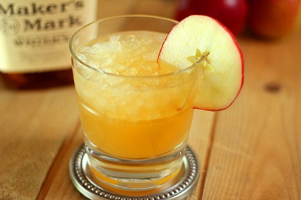 AppleCider, bourbon and ginger ale make up this lovely #Fall cocktail ...