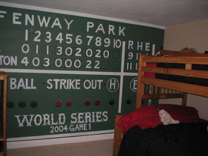 Pin by dee on baseball pinterest for Baseball scoreboard wall mural
