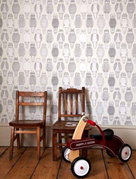 owls of the british isles wallpaper i spy kids rooms pinterest