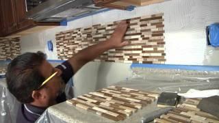 Glass Stone Tile Backsplash How To Menards Home Sweet Home Pinterest