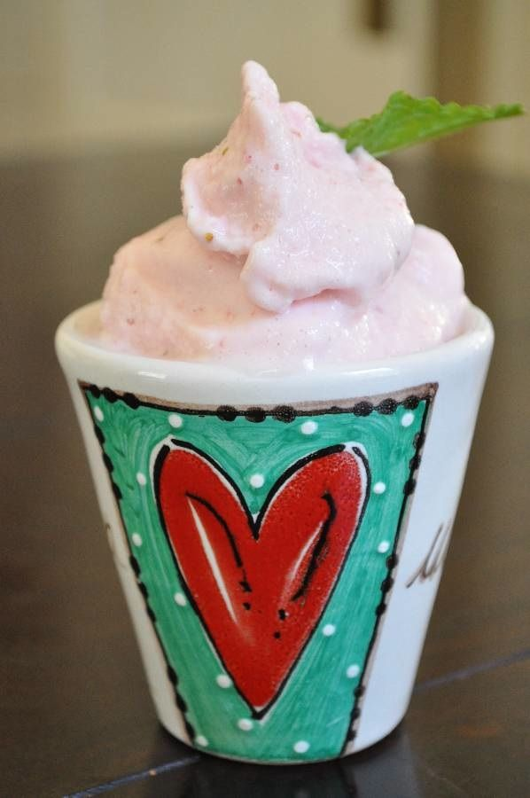 Strawberry (Buttermilk) Ice-cream"