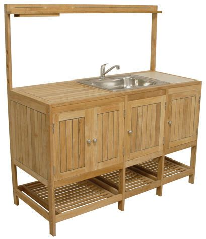 Storage outdoor kitchens pinterest for Outdoor kitchen sink and cabinet